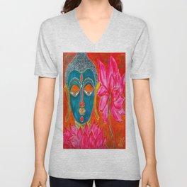 The Blue Buddha Unisex V-Neck