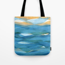 Ocean Wave Water Pattern Print Tote Bag