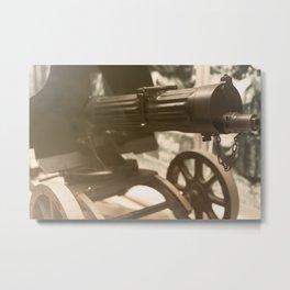 Old machine Gun. Maxim gun. First World War Machine gun. Metal Print