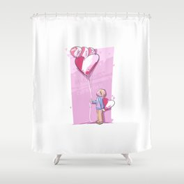 This Kid Loves Valentine's Day Everyday Shower Curtain