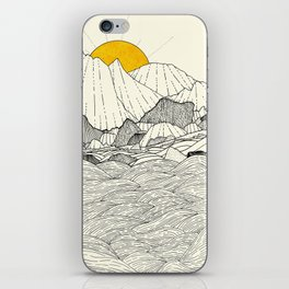 The land and the sea iPhone Skin