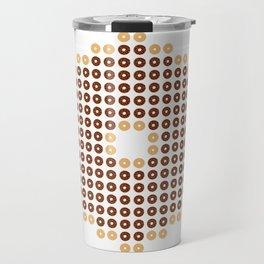 Chocolate Donut Mosaic Travel Mug
