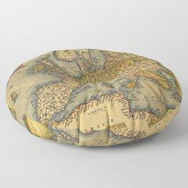 Vintage map of Europe Floor Pillow