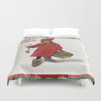 health Duvet Covers featuring Wishing You Health Wealth and Happiness Greeting Card by taiche