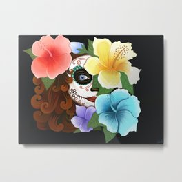 Day of the Hibiscus Metal Print