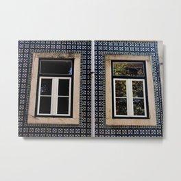 Lisbon Windows Metal Print