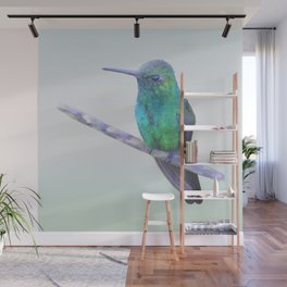 Cuban Emerald Hummingbird Wall Mural