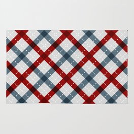 Colorful Geometric Strips Pattern - Kitchen Napkin Style Rug