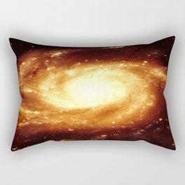 Golden Spiral Galaxy Rectangular Pillow