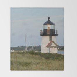 Nantucket Lighthouse Throw Blanket