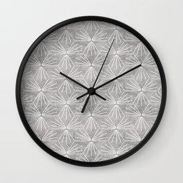 SUN TILE CEMENT LIGHT Wall Clock