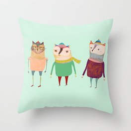 The Cats. Throw Pillow