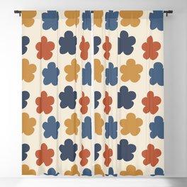 Retro 70s 60s Vintage Rainbow Floral Pattern Blackout Curtain