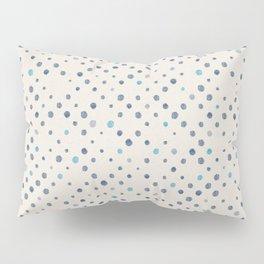 LOTS OF DOTS / linen beige / indigo blue / blue grey / cerulean Pillow Sham
