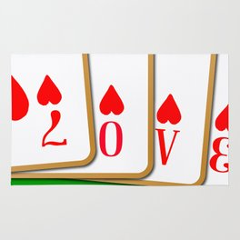 Love Playing Cards Rug
