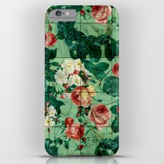 Floral and Marble Texture iPhone 6s Plus Slim Case