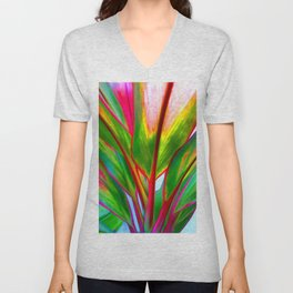 Ti Leaf Series #4 Unisex V-Neck