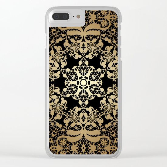 "Art Deco. ""Byzantium"" Clear iPhone Case"