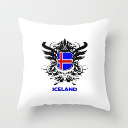 Iceland Uefa Euro 2016 Throw Pillow