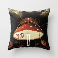 moulin rouge Throw Pillows featuring Rouge by zazacadabra