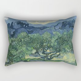The Olive Trees Rectangular Pillow