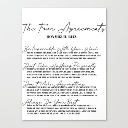 the four agreements Canvas Print