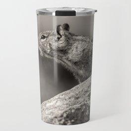 Ground Squirrel BW Travel Mug
