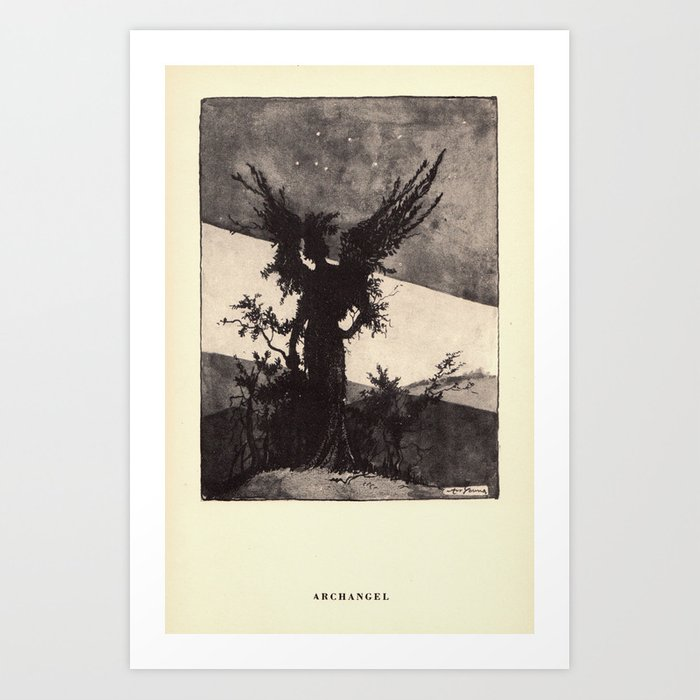 """Archangel"" from ""Trees at Night"" by Art Young Art Print"