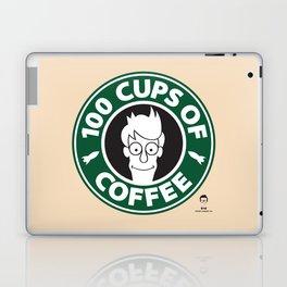 100 Cups of Coffee Laptop & iPad Skin