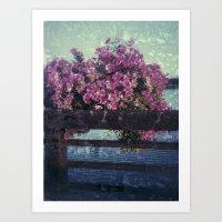 distorted flowers Art Print