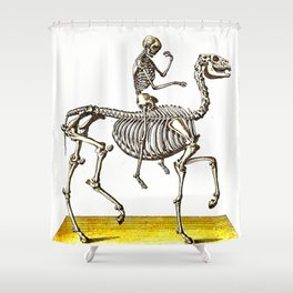 Horse Skeleton & Rider Shower Curtain