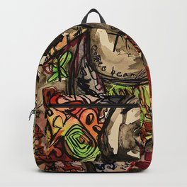La flame,music,hiphop,poster,astro world,tour,wall art,artwork,painting,colourful Backpack