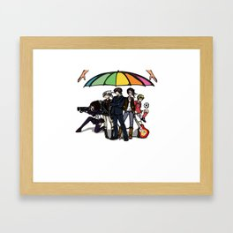 All under same umbrella Framed Art Print