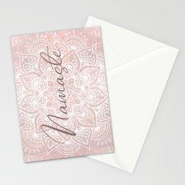 Mandala, Namaste, Yoga Love, Pink Stationery Cards