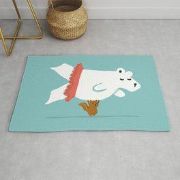 You Lift Me Up - Polar bear doing ballet Rug