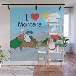 Ernest and Coraline | I love Montana Wall Mural