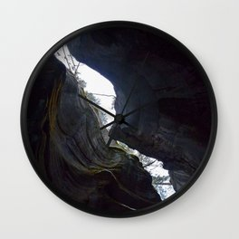 In the depths of Maligne Canyon looking up - Canada Wall Clock