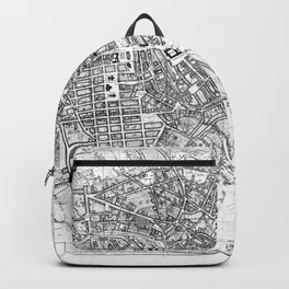 Vintage Map of Berlin (1846) BW Backpack