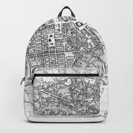 Vintage Map of Berlin (1846) BW Backpack