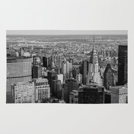 Midtown from top (B&W) Rug