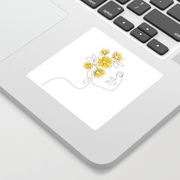 Mustard Bloom Girl Sticker