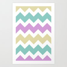 Chevron - Multi Art Print