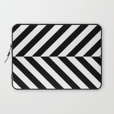 Black and White Op Art Design Laptop Sleeve