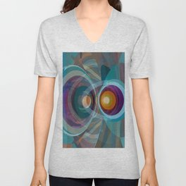 Abstract Composition 577 Unisex V-Neck