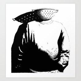 Sievehead. Art Print