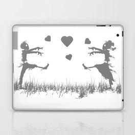 Zombies in Love Gray Laptop & iPad Skin