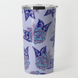 Cabbage Roses in Lavender Travel Mug