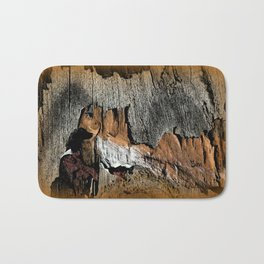 The Little Old Hunter -series with the cave images Bath Mat