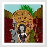 oz Art Prints featuring Oz by nu boniglio