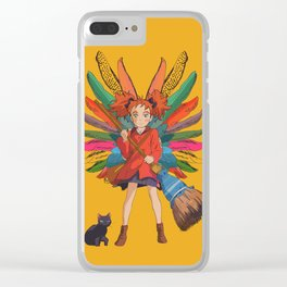 Mary and the Witch's Flower Clear iPhone Case